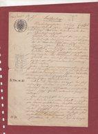 DOCUMENT D'ALSACE LORRAINE 1892 - Old Paper