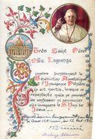 Image Religieuse - Document - Prière - Remis Par Le Vatican En 1960 - Papier Alumisé Tampon Du Vatican - Images Religieuses