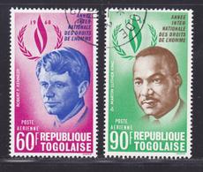 TOGO AERIENS N°  105 & 106 ° Oblitérés, Used, TB (D9377) Année Des Droits De L'Homme -1969 - Togo (1960-...)