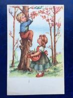 """Cp--""""Enfants Essayant De Cueillir Des Fleurs D'un Arbre""""--(1921) - Scenes & Landscapes"""