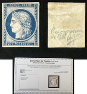 N° 8f 20c CERES Bleu Neuf N* TB Cote 800€ Signé Calves + Certificat - 1849-1850 Cérès
