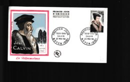 1420   F.D.C   Noyon 23 Mai 1964 Calvin 2 Scan Un Peu Abimé Dans Le Dos 1296 - 1960-1969