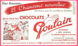"BUVARD Illustré - BLOTTING PAPER - Chocolat POULAIN - Blois - "" Ma Petite Folie "" - P. RIBERY GIAT - BEREL - Cocoa & Chocolat"