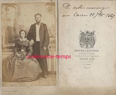 A Voir CDV EGYPTE En 1865-par Le Rare Photographe Royer Et Aufière Photographes Du Prince Napoléon-Au Caire-mariage - Photographs