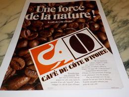 ANCIENNE PUBLICITE CAFE COTE D IVOIRE 1969 - Affiches