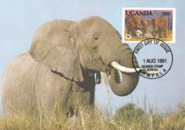1991 - UGANDA Kampala - Savanna Elephant - Ouganda