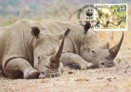 1987 - SWAZILAND - White Rhino - Rhinoceros Blanc - Swasiland