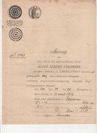 DOCUMENT D'ALSACE LORRAINE T6 Rare  Cote 100Euros - Old Paper