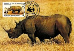 1983 - Republique Centrafricaine - Bangui - Black Rhinoceros - Centrafricaine (République)