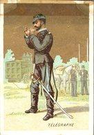 Image Chromo Soldat Télégraphe Grande épicerie Centrale Maison A Maurice Fils Ernest Ghislard Argentan - Autres