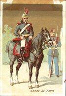 Image Chromo Soldat Garde De Paris Grande épicerie Centrale Maison A Maurice Fils Ernest Ghislard Argentan - Autres