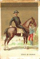 Image Chromo Soldat Ecole De Saumur Grande épicerie Centrale Maison A Maurice Fils Ernest Ghislard Argentan - Autres