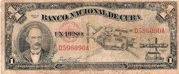 CUBA 1 PESO 1953 P-86 CIRC. - Cuba