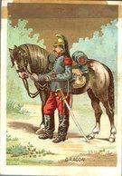 Image Chromo Soldat Dragon Grande épicerie Centrale Maison A Maurice Fils Ernest Ghislard Argentan - Autres