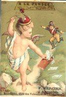 Image Chromo A La Pensée Dieu Et Déesse Enfant Angelot Mercure F. Mercier Argentan - Autres