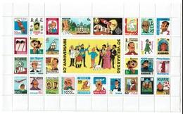 50è Anniversaire De Tintin - Hergé - Feuille De Timbres - Enveloppe D'origine - 3 Scans - Philabédés (comics)