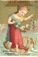 Image Chromo Vénus A La Pensée Dieu Et Déesse Enfant Angelot F. Mercier Argentan - Autres