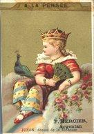 Image Chromo Junon A La Pensée Dieu Et Déesse Enfant Angelot F. Mercier Argentan - Autres