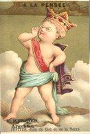 Image Chromo Jupiter A La Pensée Dieu Et Déesse Enfant Angelot F. Mercier Argentan - Autres