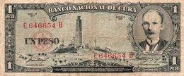 CUBA 1 PESO 1957 P-87b  CIRC. - Cuba