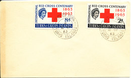 Turks And Caicos FDC 2-9-1966 RED CROSS Complete Set Of 2 - Turks & Caicos (I. Turques Et Caïques)