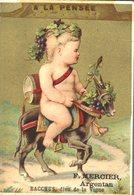 Image Chromo Bacchus A La Pensée Dieu Et Déesse Enfant Angelot F. Mercier Argentan - Autres