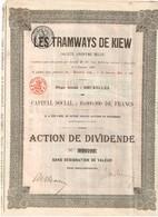 Titre Ancien - Les Tramways De Kiew -  Société Anonyme Belge - Titre De 1905 - N° 029792 - Chemin De Fer & Tramway