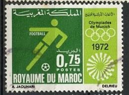 JO Munich 1972 Maroc - Marokko - Morocco Y&T N°644 - Michel N°710 (o) - 75c Football - Summer 1972: Munich