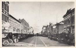 San Bernardino California Street Scene Business Distric, Autos, C1920s Vintage Postcard - San Bernardino