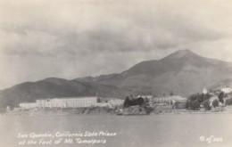 San Quentin State Prison California, Mt. Tamalpais San Francisco Bay, C1940s Vintage Real Photo Postcard - United States