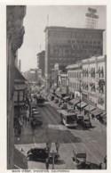 Stockton California, Main Street View, Street Car, Autos, C1920s/30s Vintage Postcard - Estados Unidos