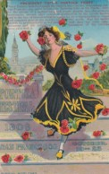 San Francisco California 1909 Portola Festival Poster-style Image Beautiful Woman Flowers 1900s Vintage Postcard - San Francisco