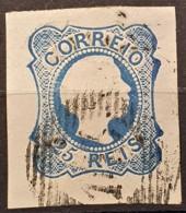 PORTUGAL 1855 - Canceled - Sc# 6 - 25r - 1855-1858 : D.Pedro V