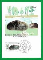 BRD 2002  Mi.Nr. 2266 , Flussperlmuschel - Bedrohte Tierarten - Maximum Card - Berlin Zentrum Erstausgabe 06.06. 2002 - BRD