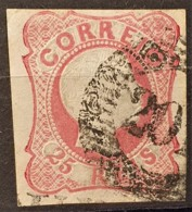 PORTUGAL 1856 - Canceled - Sc# 11 - 25r - 1855-1858 : D.Pedro V