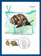 BRD 2002  Mi.Nr. 2265 , Bauchige Windelschnecke - Bedrohte Tierarten - Maximum Card - Berlin Erstausgabe 06.06. 2002 - BRD