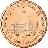 Monaco, Médaille, 1 C, Essai Trial, 2005, FDC, Cuivre - Autres