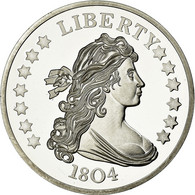 United States Of America, Médaille, Reproduction Silver Dollar Liberty, SPL+ - Etats-Unis