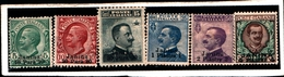 93679) ITALIA-Janina-Emissioni Ordinarie Soprastampate Janina E In Moneta Turca - Febbraio 1909-6 VALORI -MLH* - Albanië