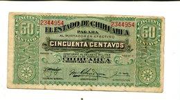 MEXICO 50 CENTS 1914 CHIHUAHUA VF 3.25 - Mexico