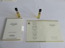 Echantillon ,tube Sur Carton J L Scherrer - Campioncini Di Profumo (testers)
