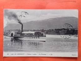 """CPA (73) Lac Du Bourget.Bateau à Vapeur """"Les Parisiens"""" Tampon Militaire.(N.1595) - Le Bourget Du Lac"""
