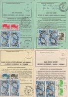 Lot De 4 Ordres De Reexpedition Differents (2 Temporaires + 2 Definitives) - Gironde - PA + Liberte Gandon - Voir Scan - Postmark Collection (Covers)