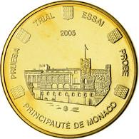 Monaco, Médaille, 50 C, Essai Trial, 2005, FDC, Copper-Nickel Gilt - Autres