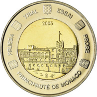 Monaco, Médaille, 2 E, Essai-Trial, 2005, FDC, Bi-Metallic - Autres