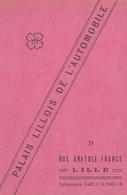 Carte De Garage Palais Lillois De L'Automobile LILLE  1943  - RV - - Cartes