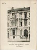 Architecture C1910 10 Planches VERS L'ART - Schaerbeek - Maisons Avenue Louis Bertrand - Plan / Détails .. - 10 Scans - Architecture