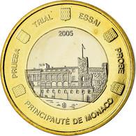 Monaco, Médaille, 1 E, Essai-Trial, 2005, FDC, Bi-Metallic - Autres