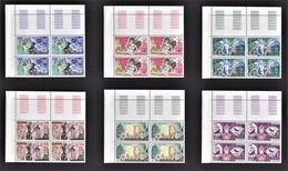 MONACO 1980 SERIE 6 BLOCS DE 4 TP / N°1235 A 1240  6 TP NEUFS** / COINS DE FEUILLES - Neufs