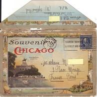 """Carte-lettre Illustrée Rédigée En Français (1922) """"Chicago- Etats-unis à Destination De Paris - France. - Covers & Documents"""